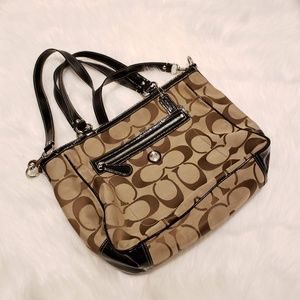 Coach Laura Signature Large Khaki Tote Crossbody